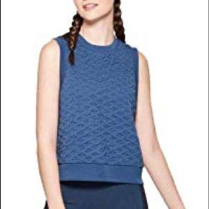 NWT JOYLAB Quilted waffle knit navy sleeveless L